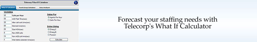 Forcast your staffing needs with Telecorp's What If Calculator